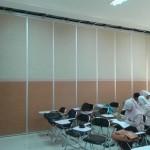 penyekat ruangan partisi geser lipat SMK Muhammadiyah 7 Gondanglegi Malang