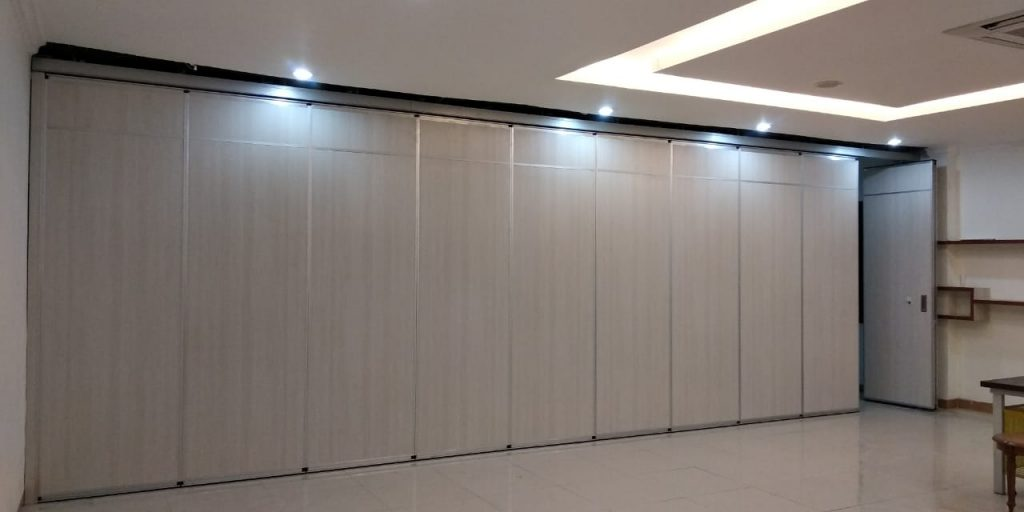 sliding partition office